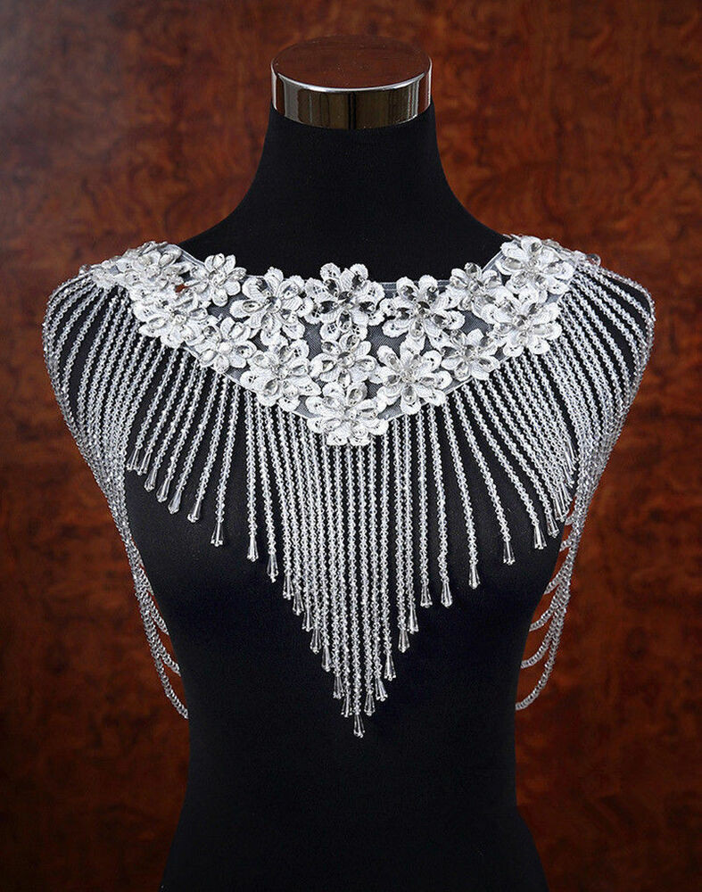 Body Jewelry Shoulder  Vintage Wedding Bridal Shoulder Body Chain Necklace
