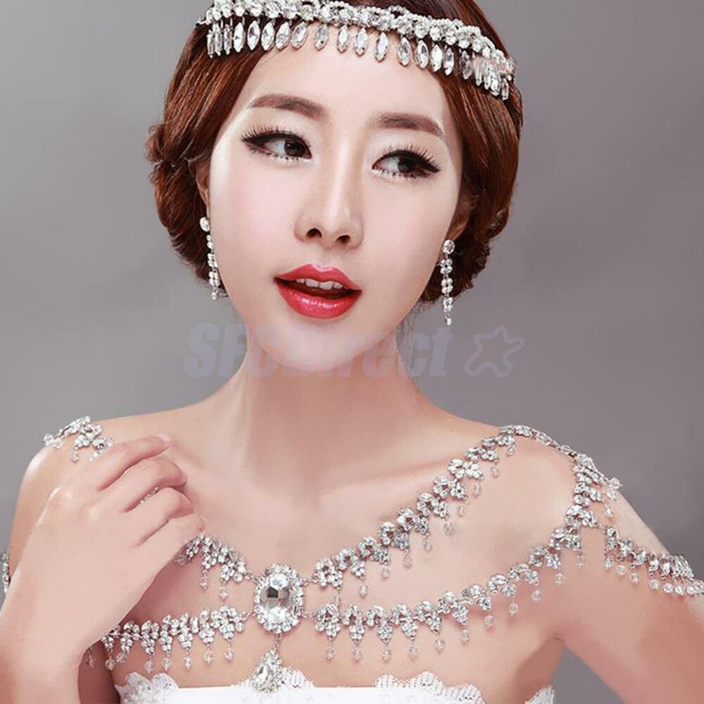 Body Jewelry Wedding  Bride Crystal Rhinestone Wedding Party Shoulder Body Chain
