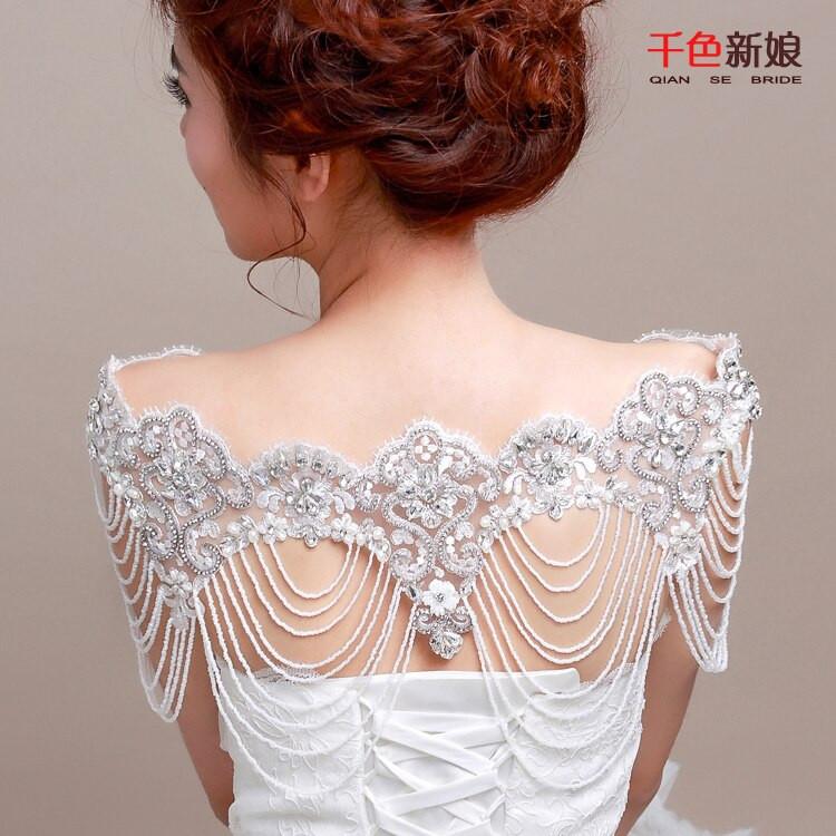 Body Jewelry Wedding  Aliexpress Buy High End Women body Chain shoulder