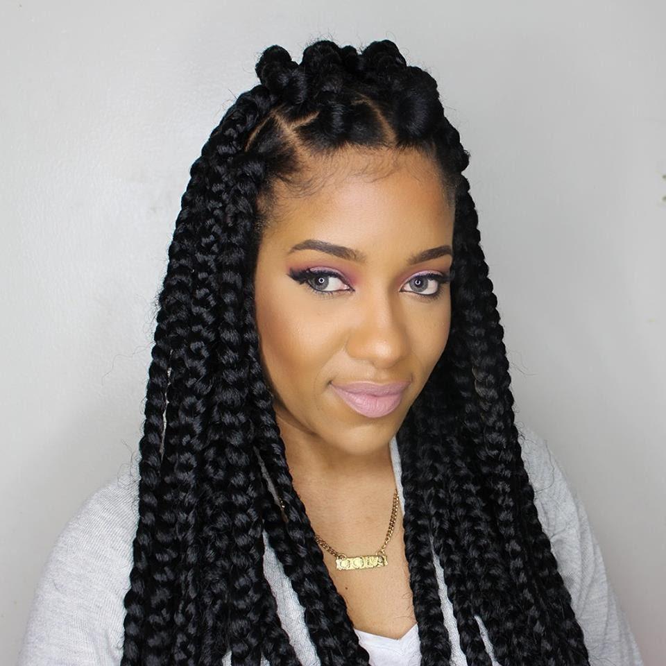 Box Braid Hairstyles  Jumbo box braids – Amazing Long Term Protective Style