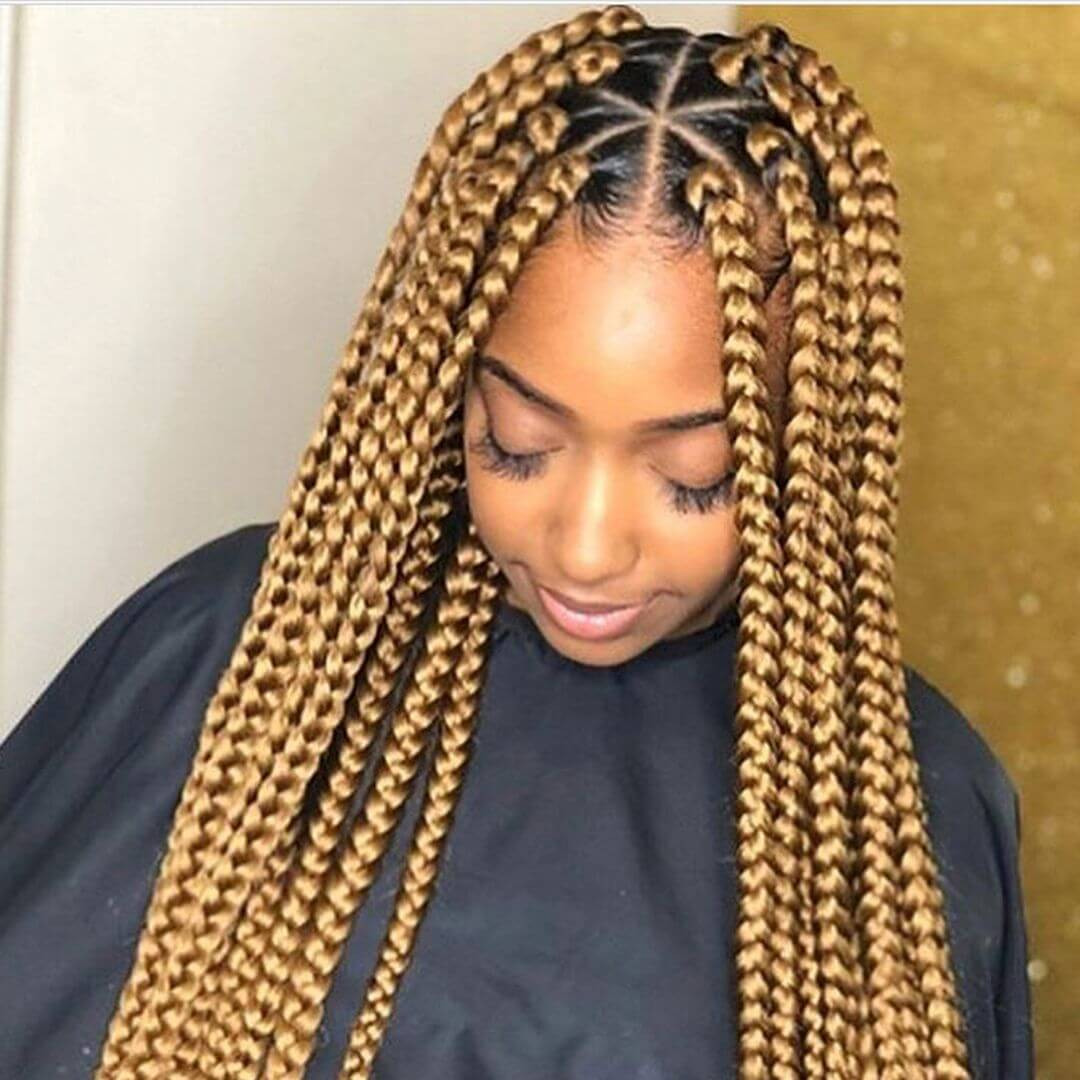 Box Braid Hairstyles  37 Unique Triangle Box Braids Hairstyles 2019 Funky For