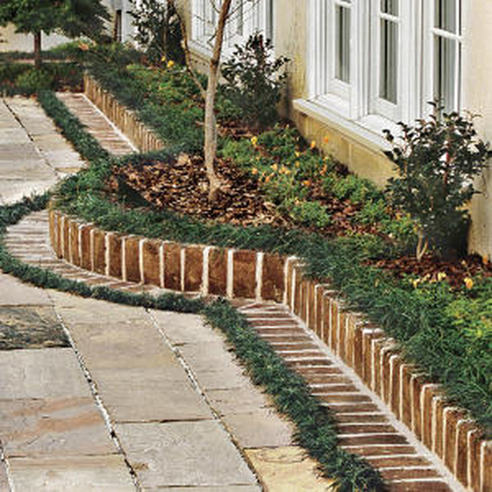 Brick Landscape Edging  Brick Edging & Brick BBQ Landscape Gardening job in