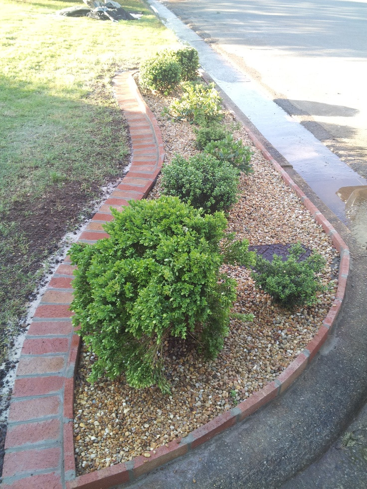 Brick Landscape Edging  31 best images about landscape edging ideas on Pinterest