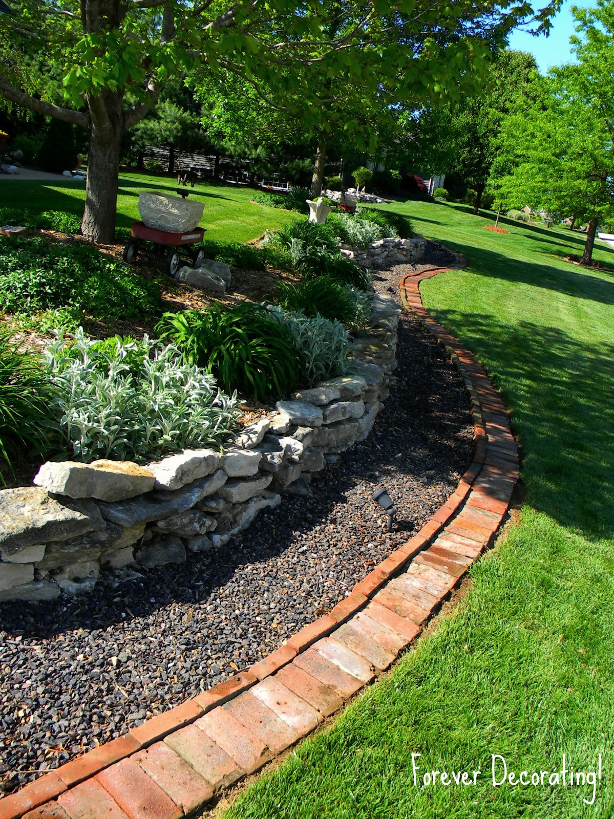 Brick Landscape Edging  Forever Decorating Brick Border