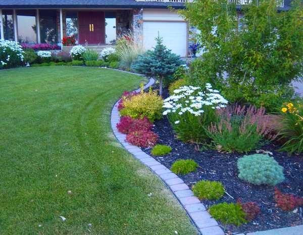Brick Landscape Edging  37 Creative Lawn and Garden Edging Ideas with