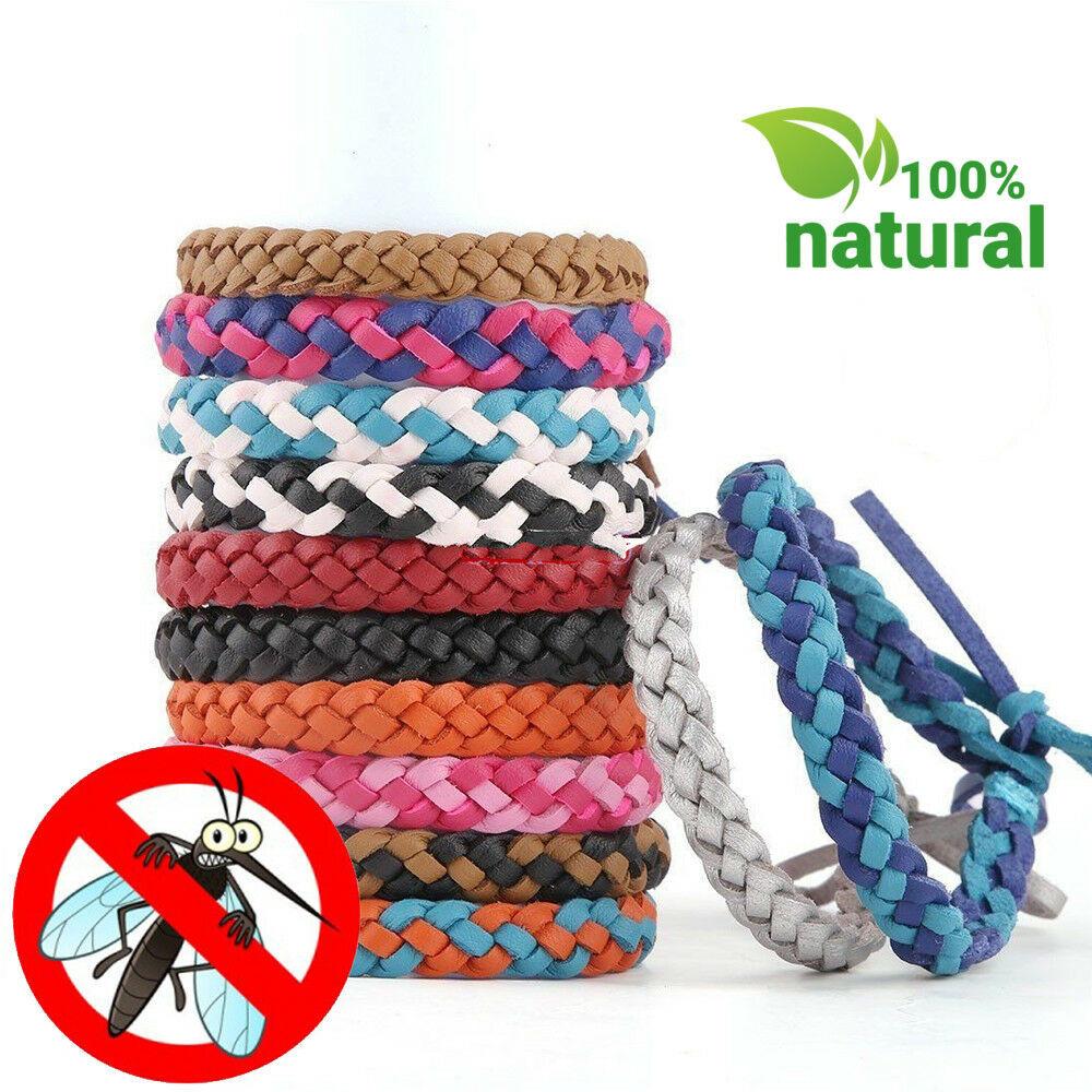 Bug Repellent Bracelet  Anti Mosquito Insect Repellent Leather Bracelet Wrist