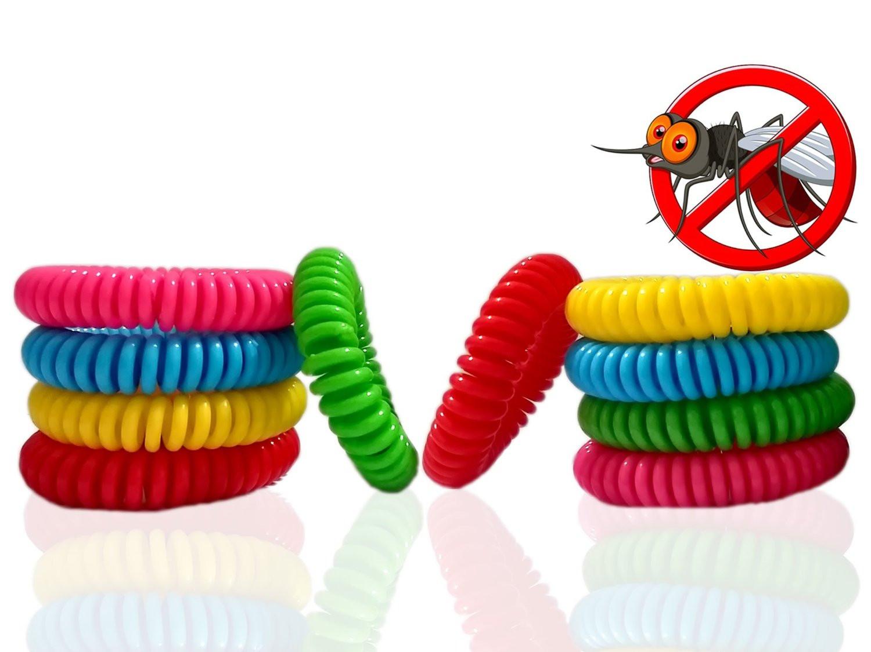 Bug Repellent Bracelet  DEET FREE Mosquito Repellent Bracelets Resealable 10