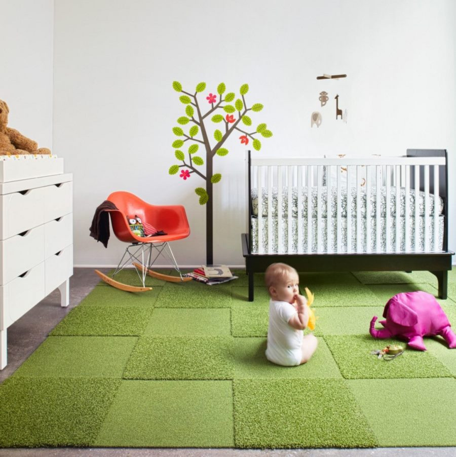 Carpet Tiles For Kids Room  Create Your Own Nursery Rug with FLOR