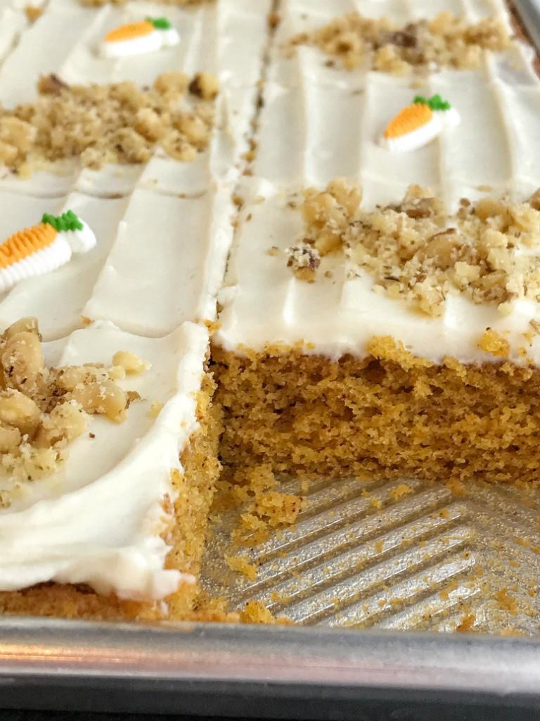 Carrot Cake Made With Baby Food  Sheet Pan Carrot Cake Bars surprise ingre nt