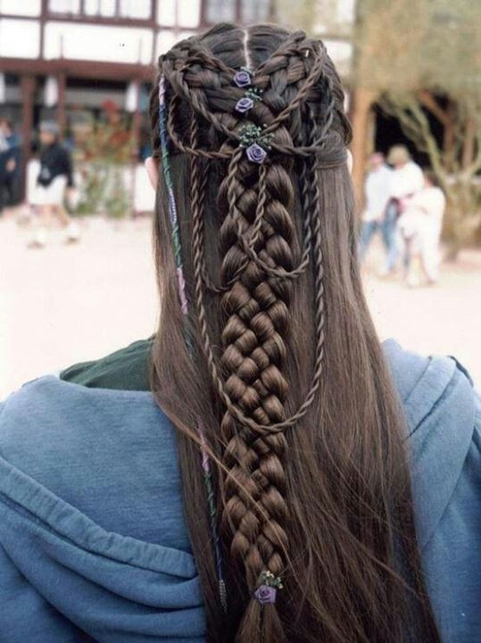 Celtic Hairstyles Female  Celtic Wedding Hair would be a total b tch if I had to do