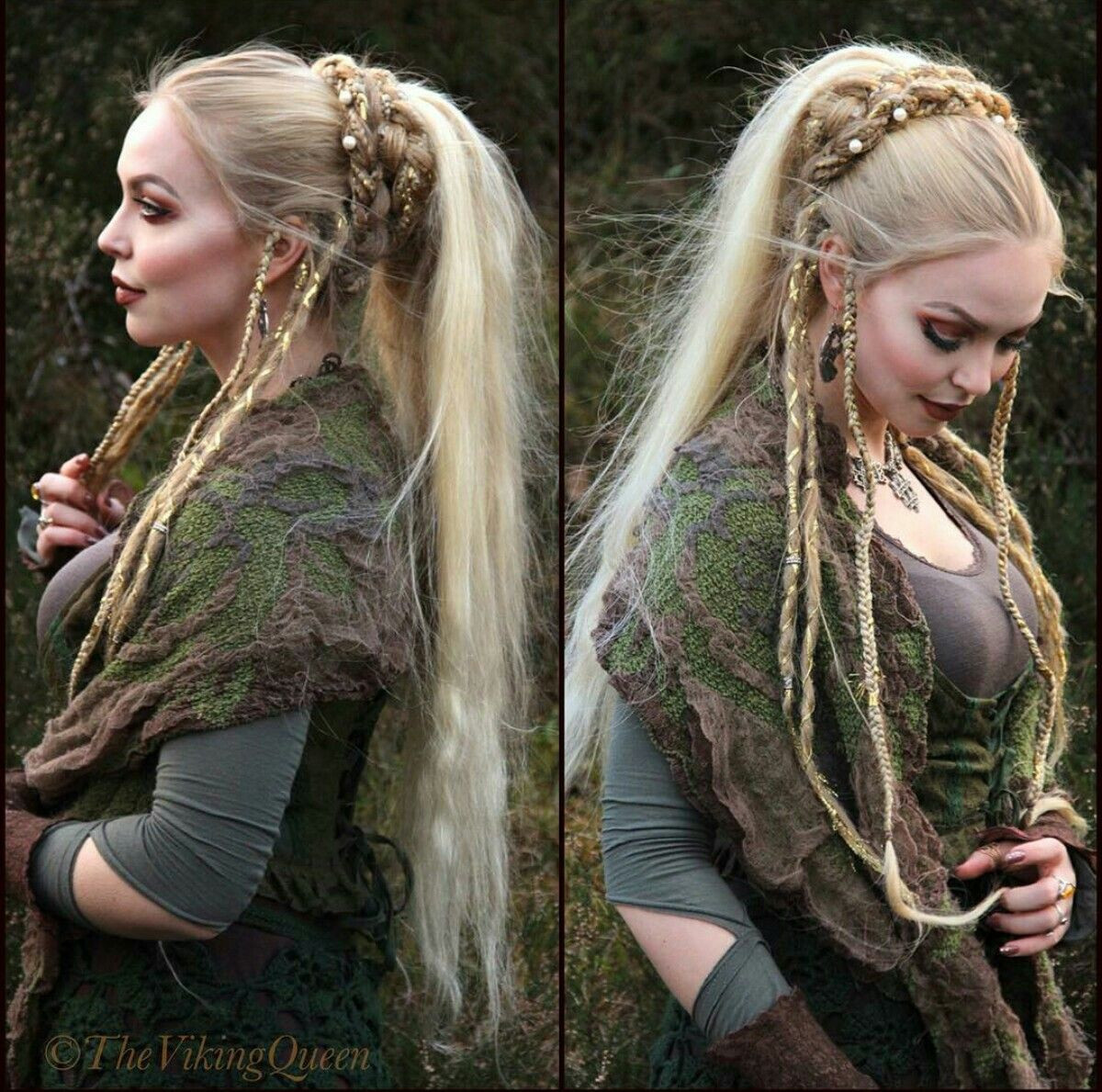 Celtic Hairstyles Female  viking braided hairstyle autiful