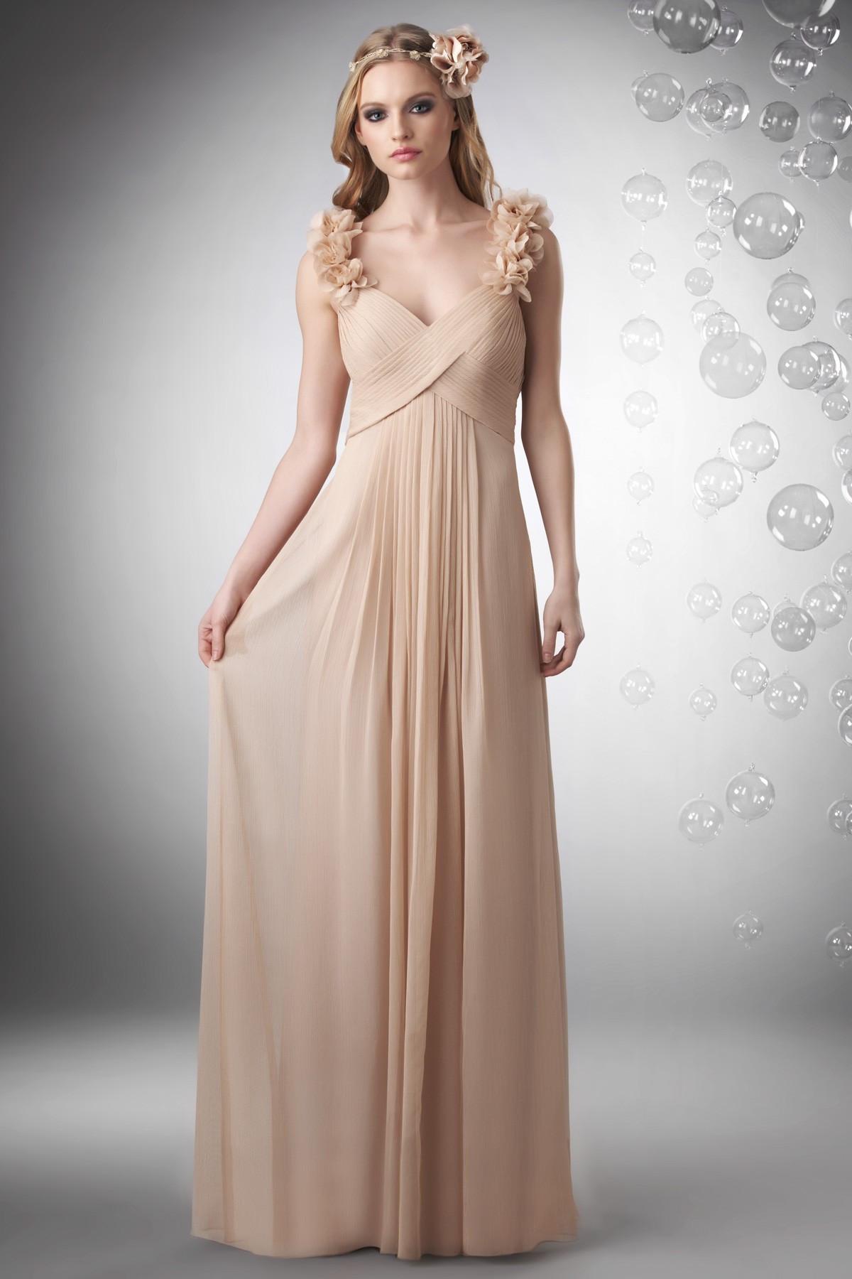 Champagne Wedding Gowns  Champagne Chiffon Dress