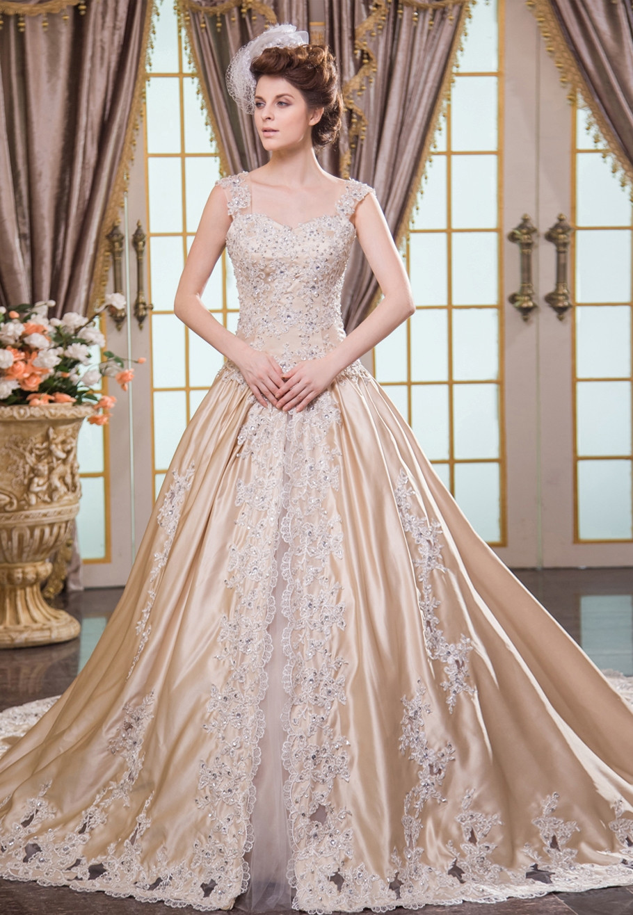 Champagne Wedding Gowns  20 Champagne Wedding Dresses Ideas Wohh Wedding