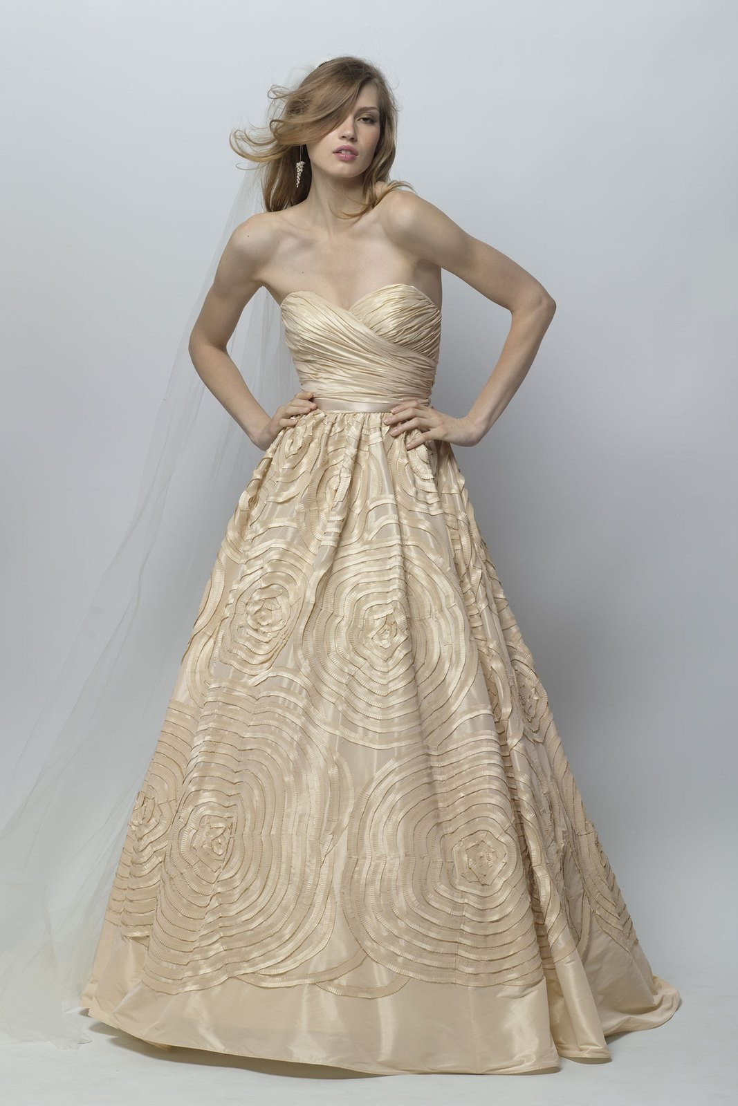 Champagne Wedding Gowns  14 Champagne wedding dresses