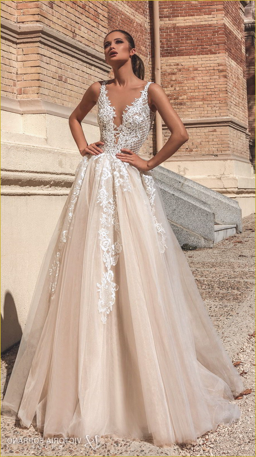 Champagne Wedding Gowns  Best 21 Champagne Wedding Dresses in 2019 Royal Wedding