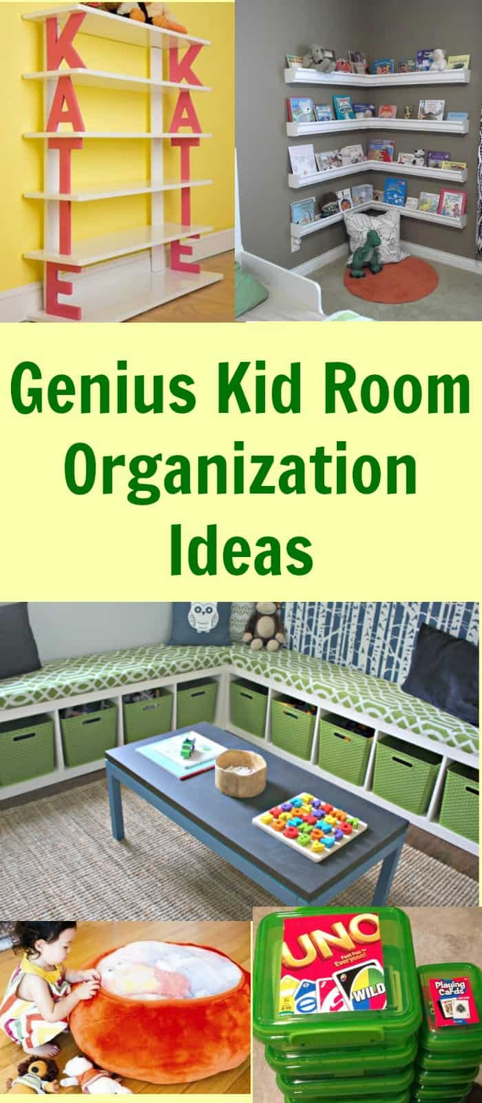Cheap Organizing Ideas For Kids Rooms  Genius Kid Room Organization Ideas