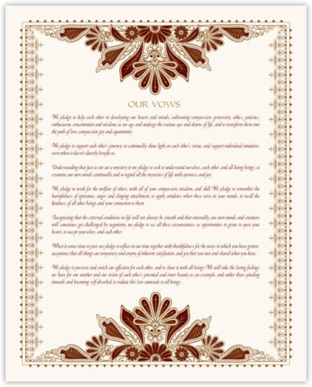 Cherokee Wedding Vows  Native American Wedding Vows and Blessings