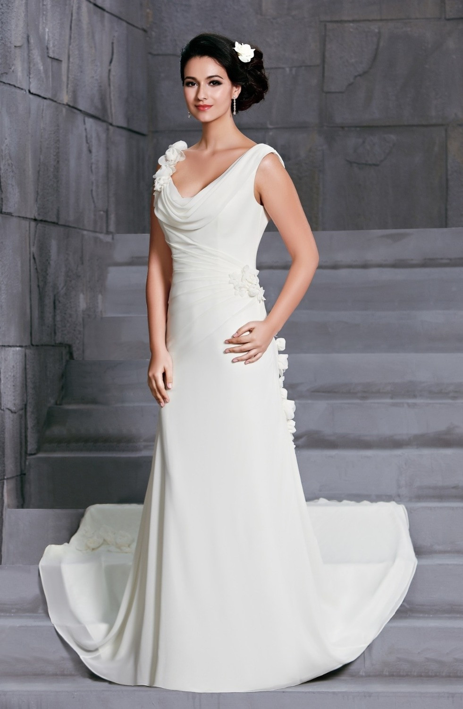 Chiffon Wedding Gown  Aliexpress Buy New Arrival Chiffon Ivory Wedding