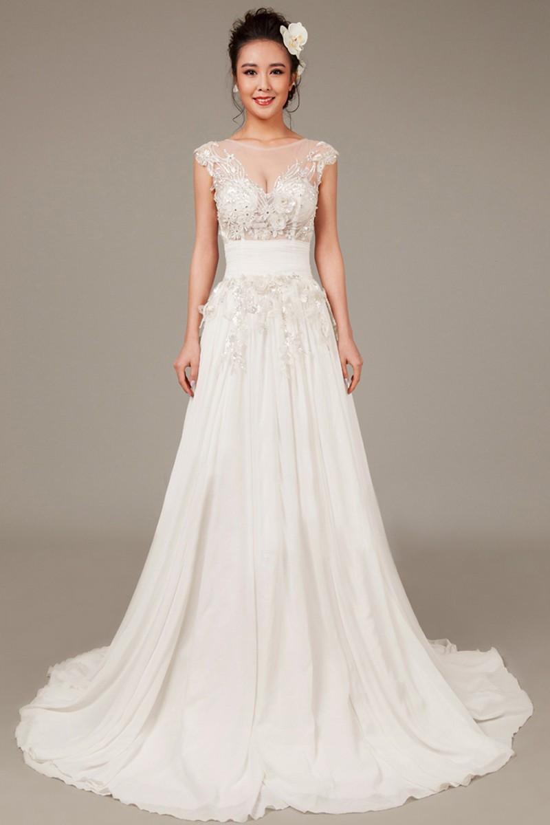Chiffon Wedding Gown  Perfect Beach Wedding Dresses – I Love Being a Lady