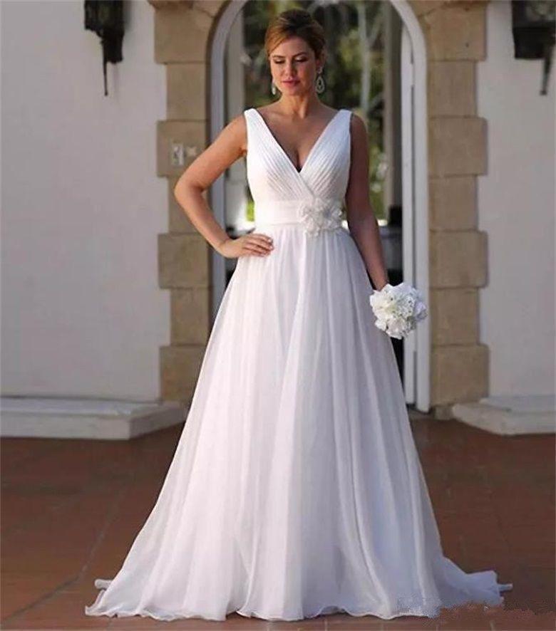 Chiffon Wedding Gown  2019 Simple Wedding Dress Chiffon Bridal Ball Gown Wedding