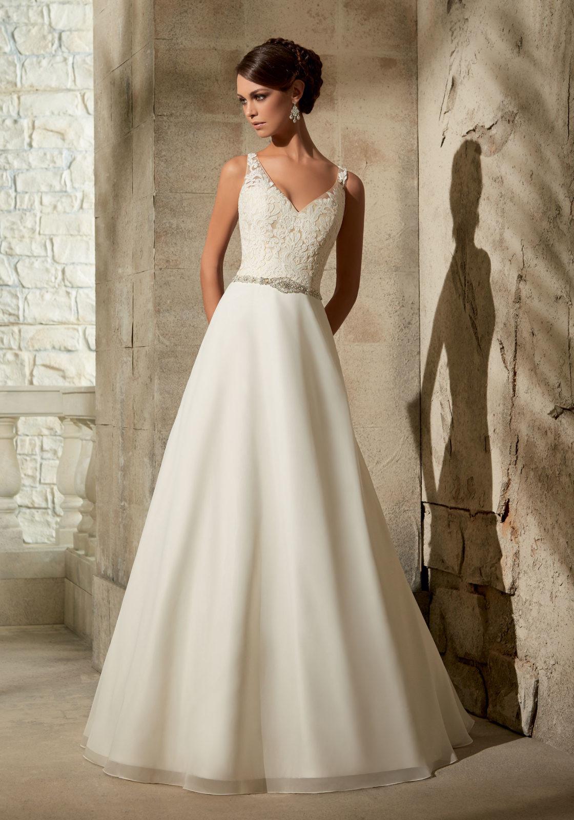 Chiffon Wedding Gown  Chiffon with Crystal Beading Wedding Dress