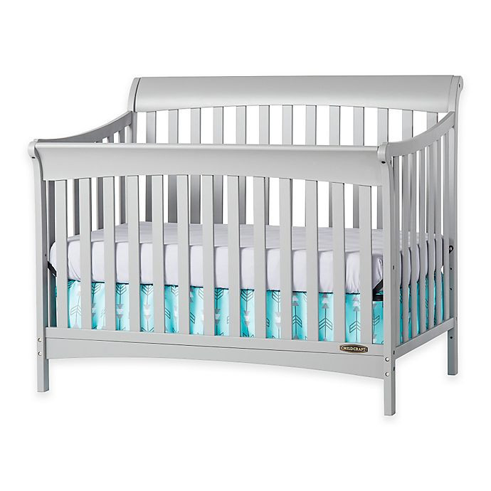 Child Craft Coventry Crib  Child Craft™ Coventry 4 in 1 Convertible Crib in Cool Grey