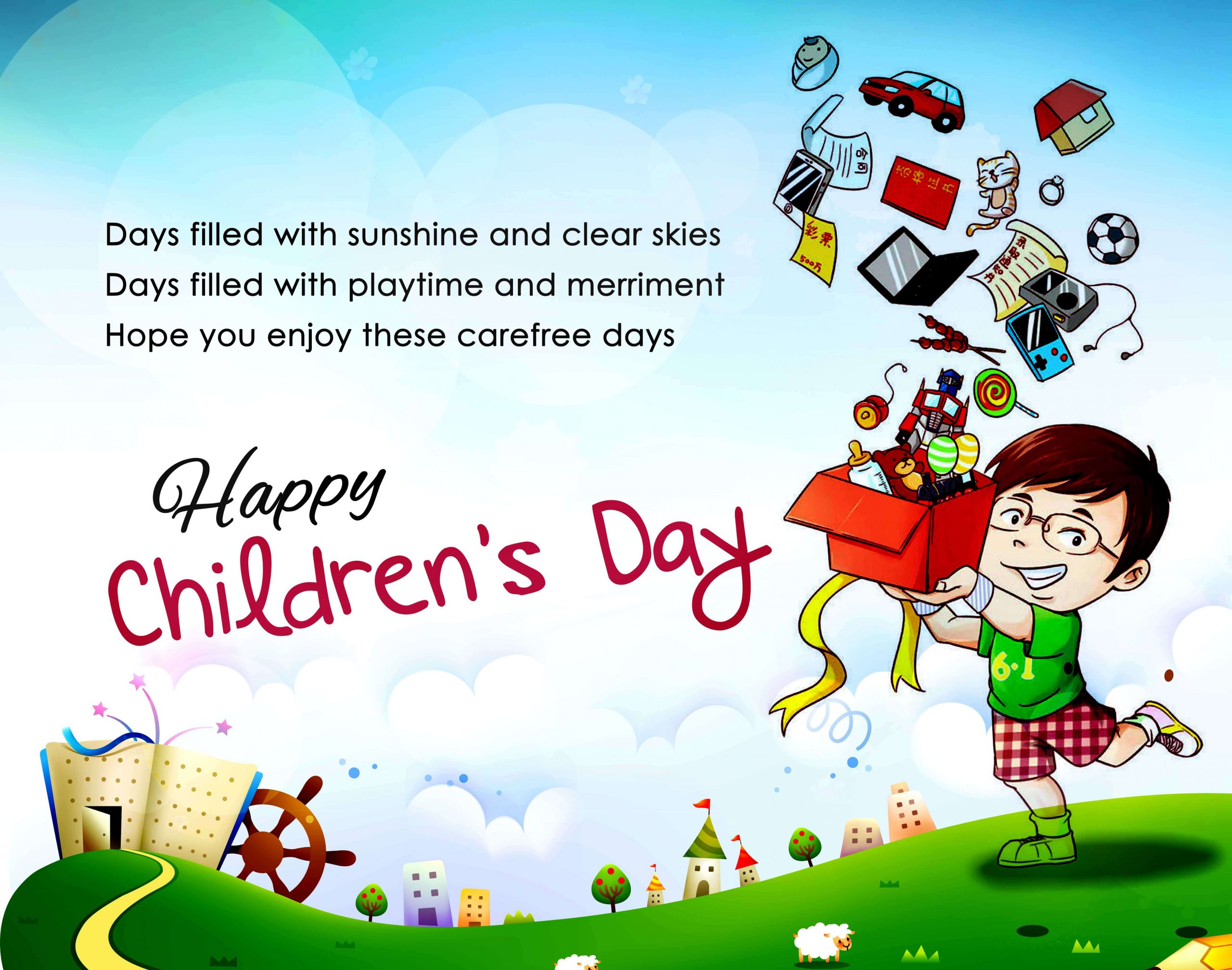 Child Happy Quotes  Happy Childrens Day Quotes Image