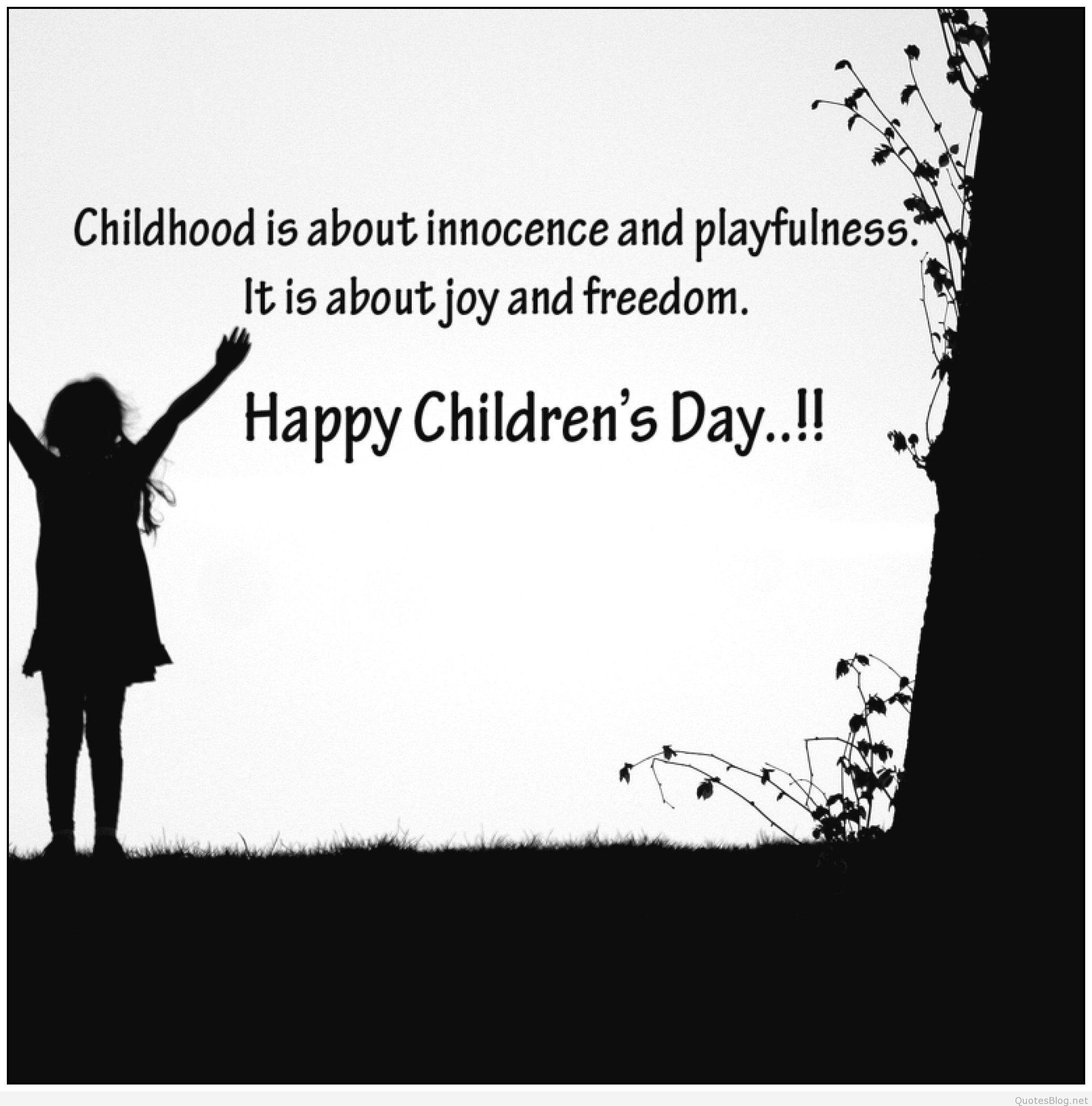 Child Happy Quotes  Happy children s day quotes 2015