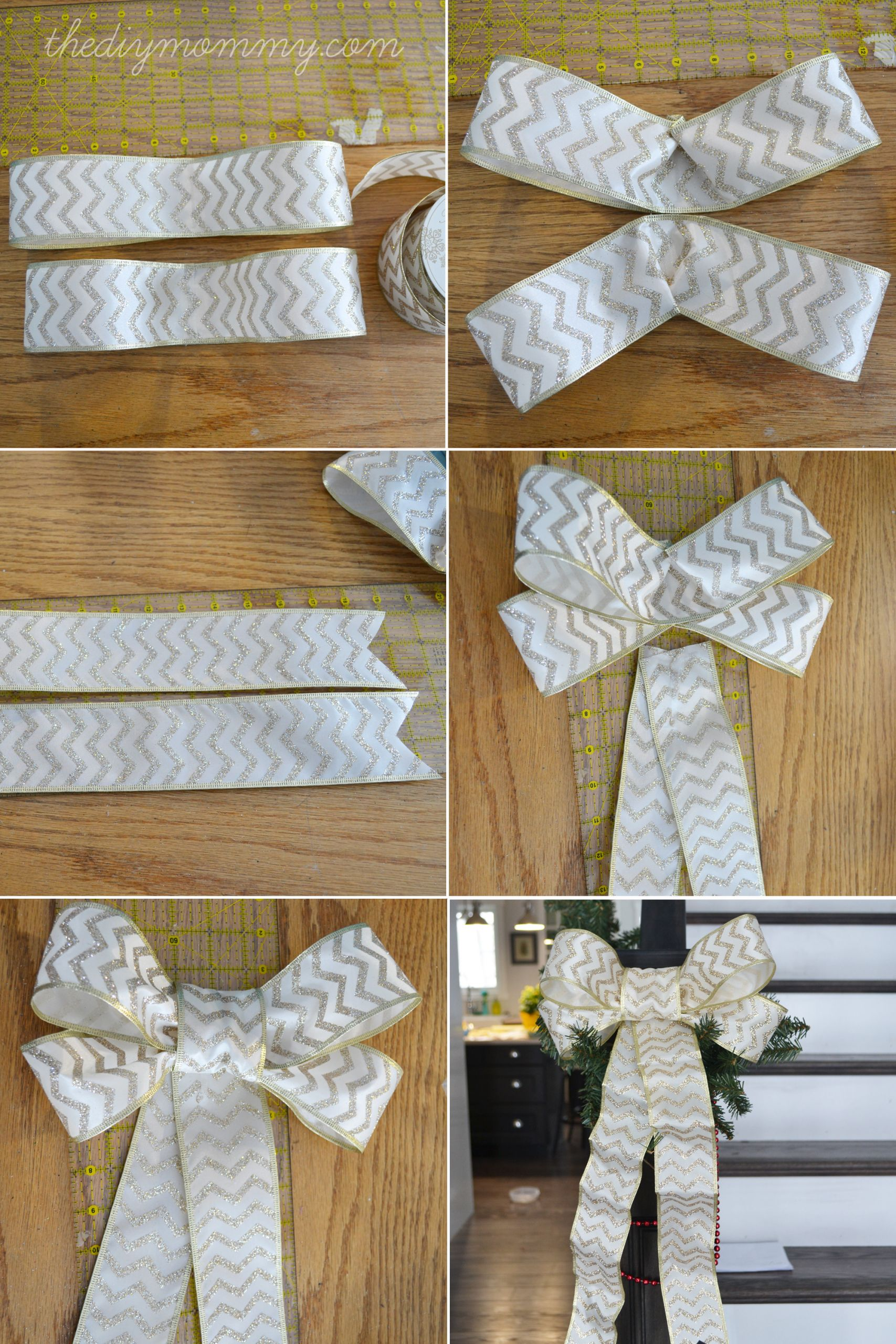 Christmas Bow DIY  Make DIY Wired Ribbon Bows