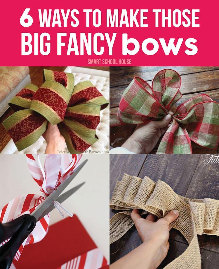 Christmas Bow DIY  How to Make Christmas Bows