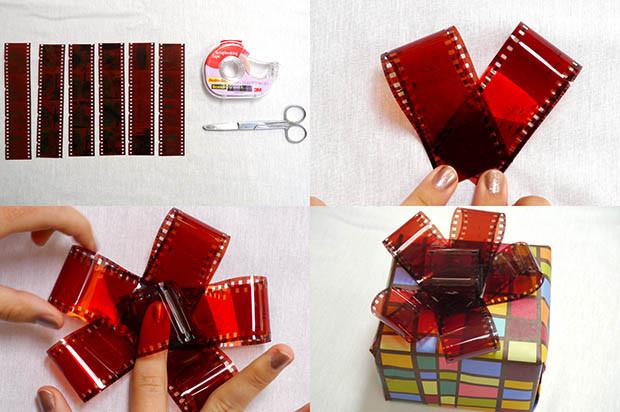 Christmas Bow DIY  Make Your Own DIY Christmas Gift Bows Using Strips of 35mm