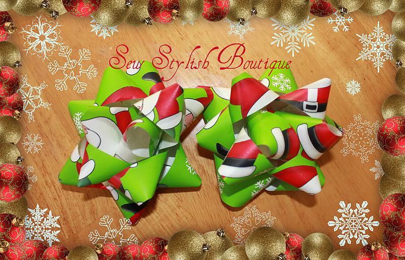 Christmas Bow DIY  Sew Stylish Boutique Kids Craft DIY Christmas Gift Bows