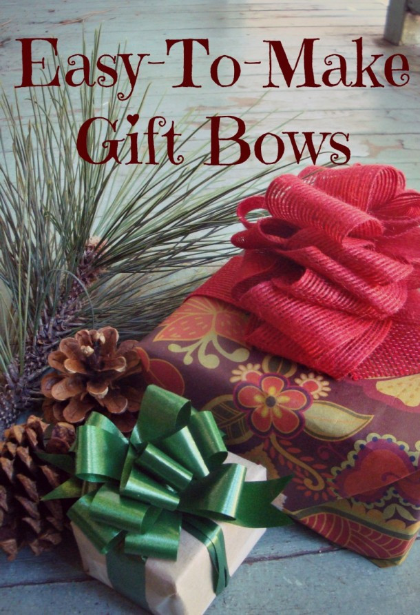 Christmas Bow DIY  Easy Craft Bows in ly Three Steps