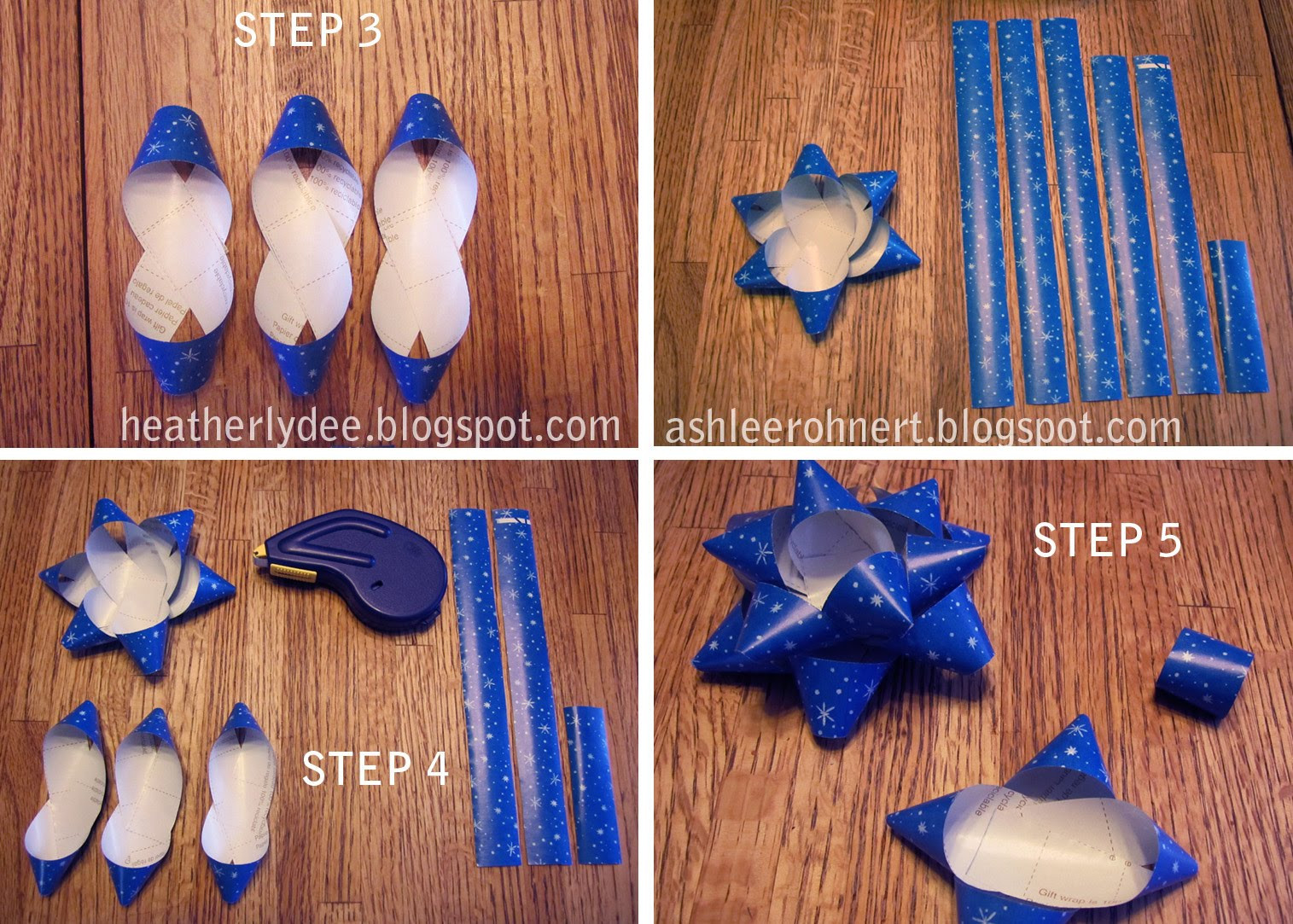 Christmas Bow DIY  heatherlydee DIY Holiday Bows