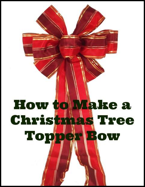 Christmas Bow DIY  13 Ways to Make a Christmas Tree Bow Topper