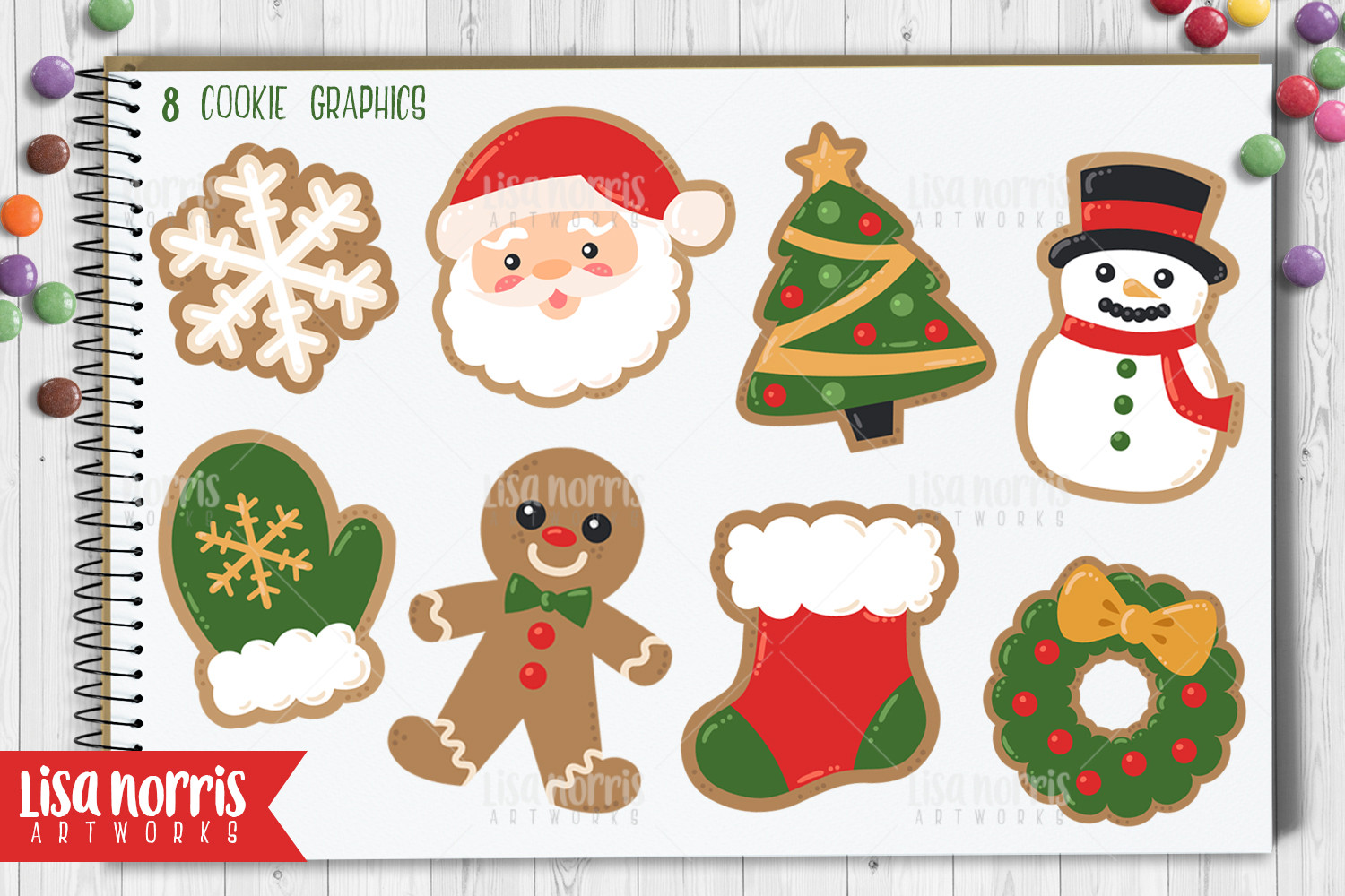 Christmas Cookies Clipart  Christmas Cookies Clip Art Graphics