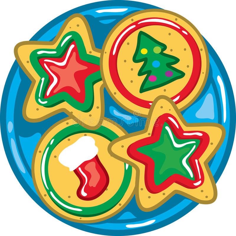 Christmas Cookies Clipart  Christmas Cookies A Plate Stock Vector Illustration