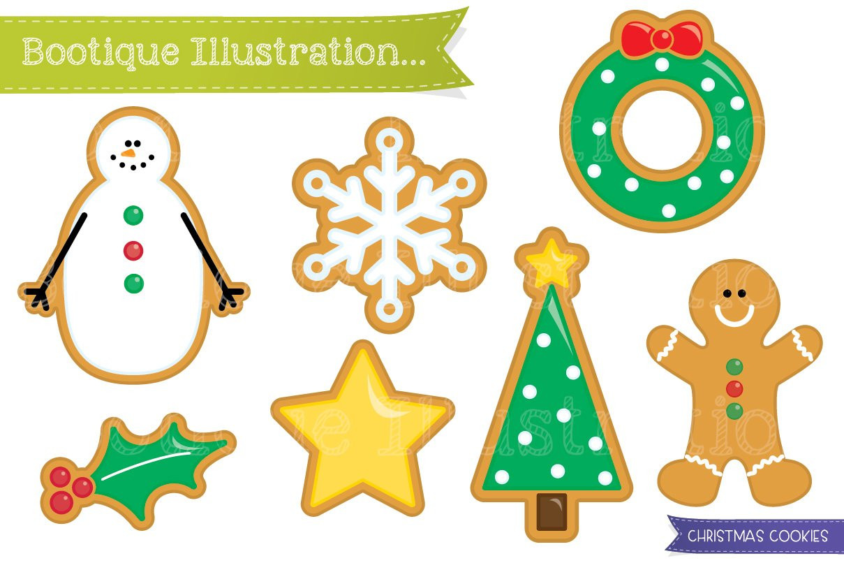 Christmas Cookies Clipart  Christmas Cookies Clipart Graphics Creative Market