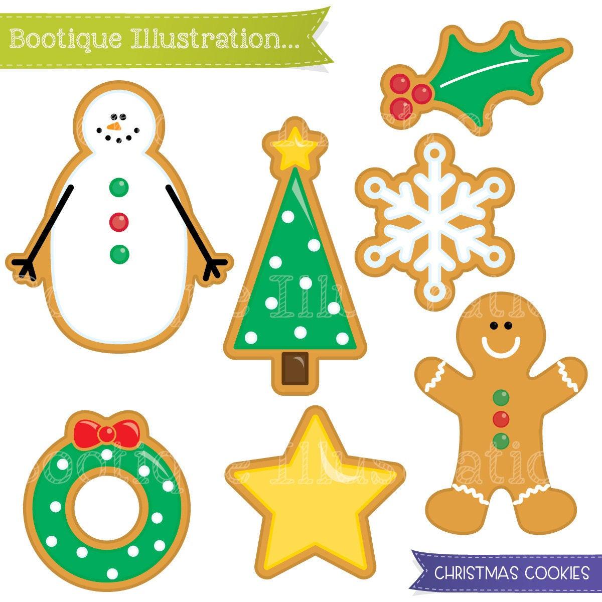 Christmas Cookies Clipart  Christmas Cookies Clipart Set Xmas Cookies Digital Clipart