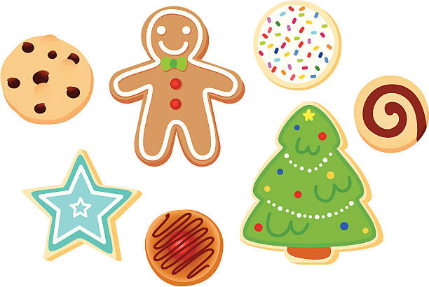 Christmas Cookies Clipart  Best Christmas Cookies Illustrations Royalty Free Vector