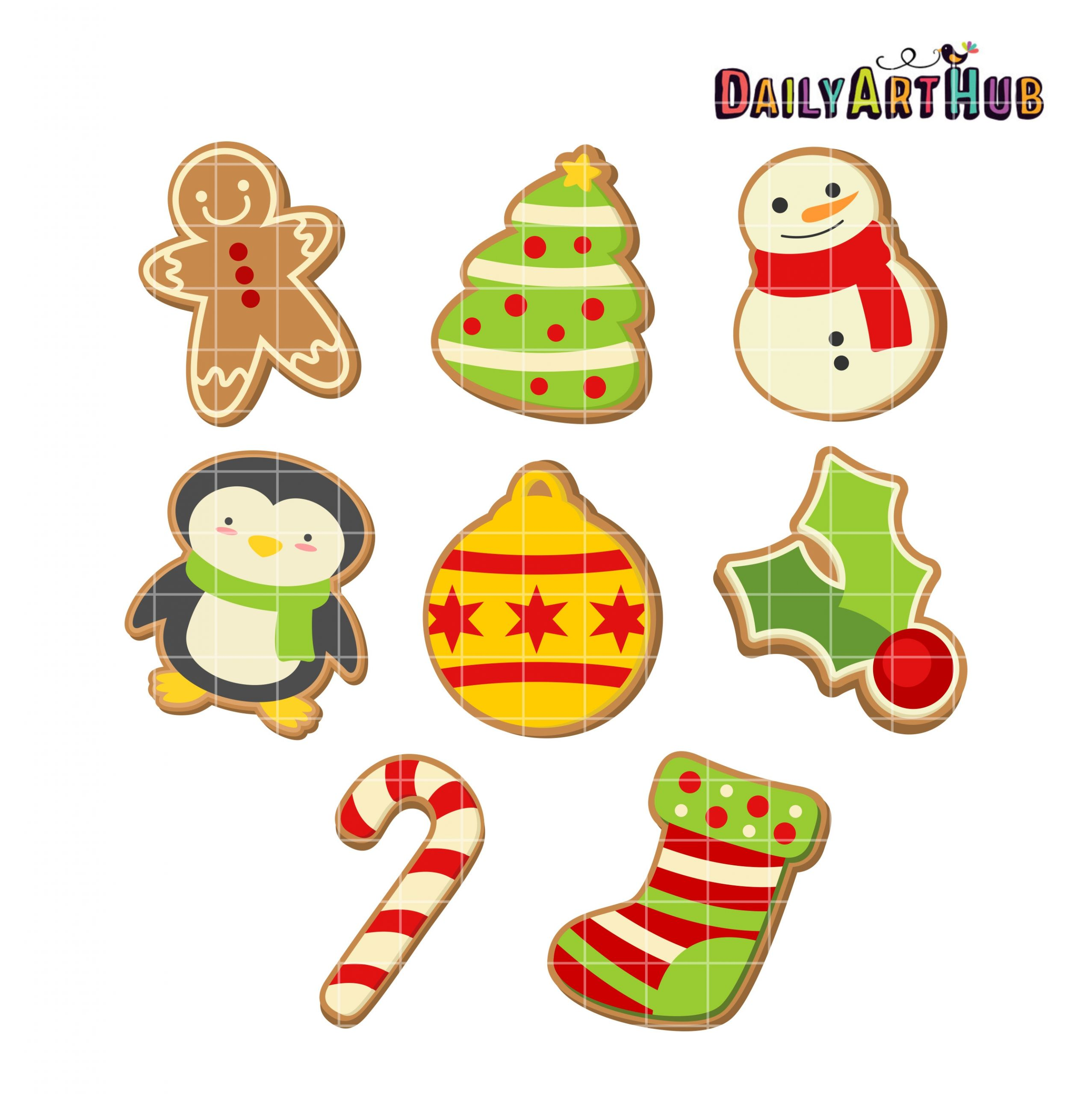 Christmas Cookies Clipart  Christmas Cookies Clip Art Set