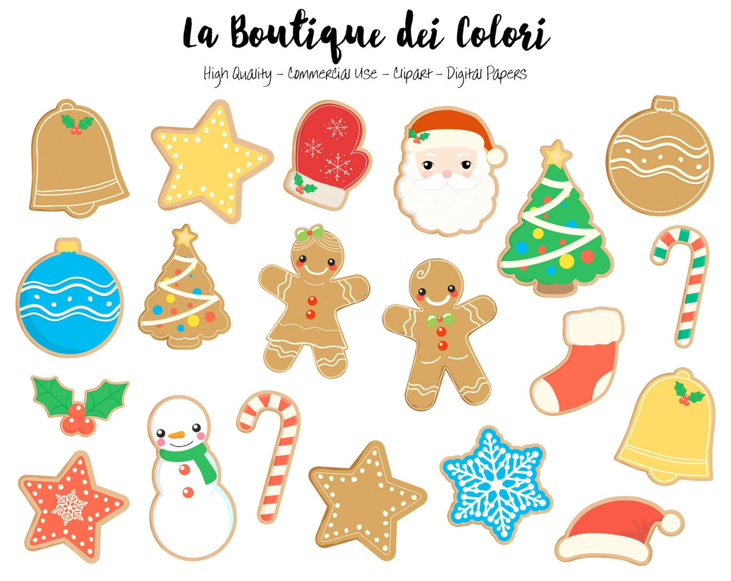 Christmas Cookies Clipart  Christmas Cookies Clipart Cute Graphics PNG Gingerbread