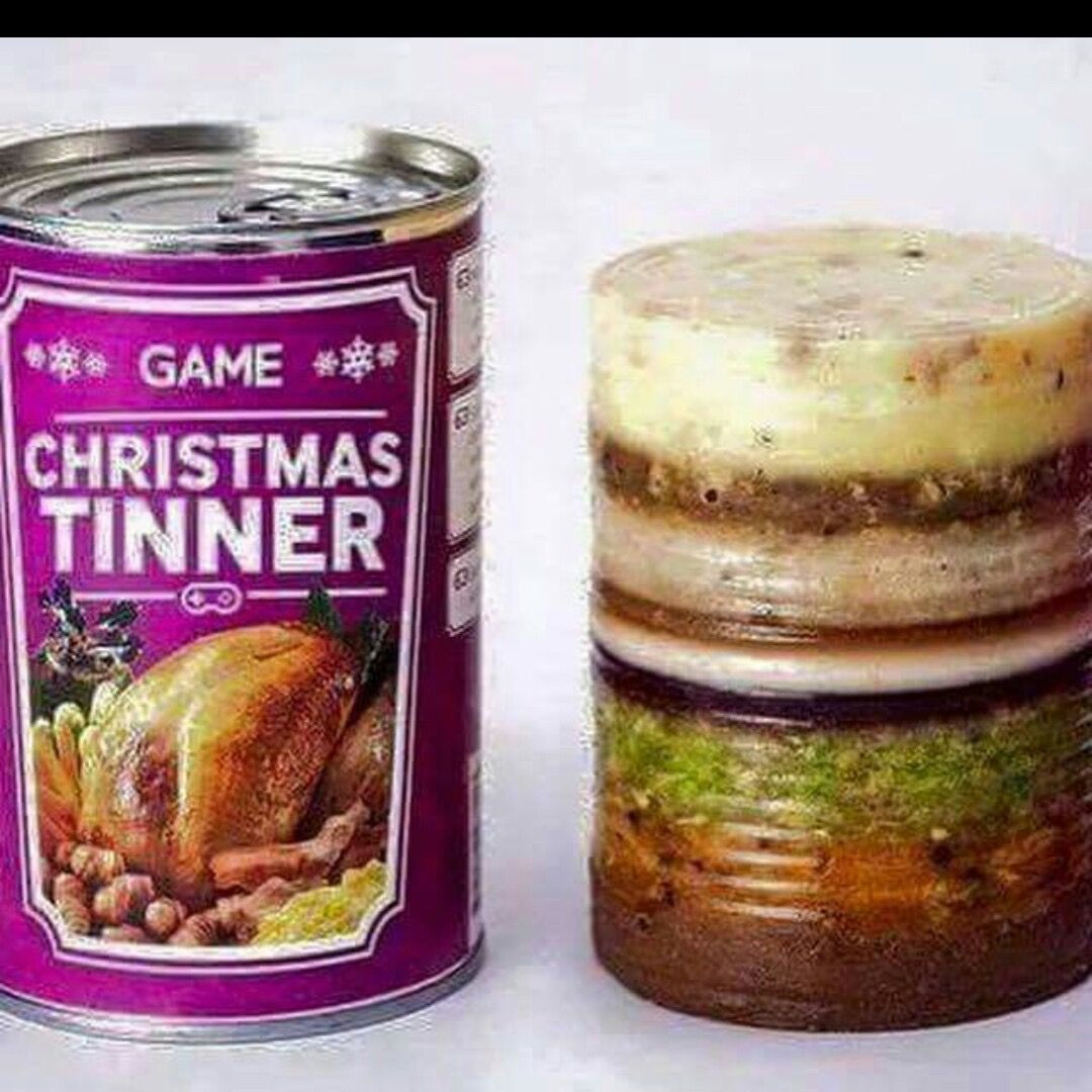 Christmas Dinner In A Can  An entire Christmas dinner in a can Nooooooooooooo With