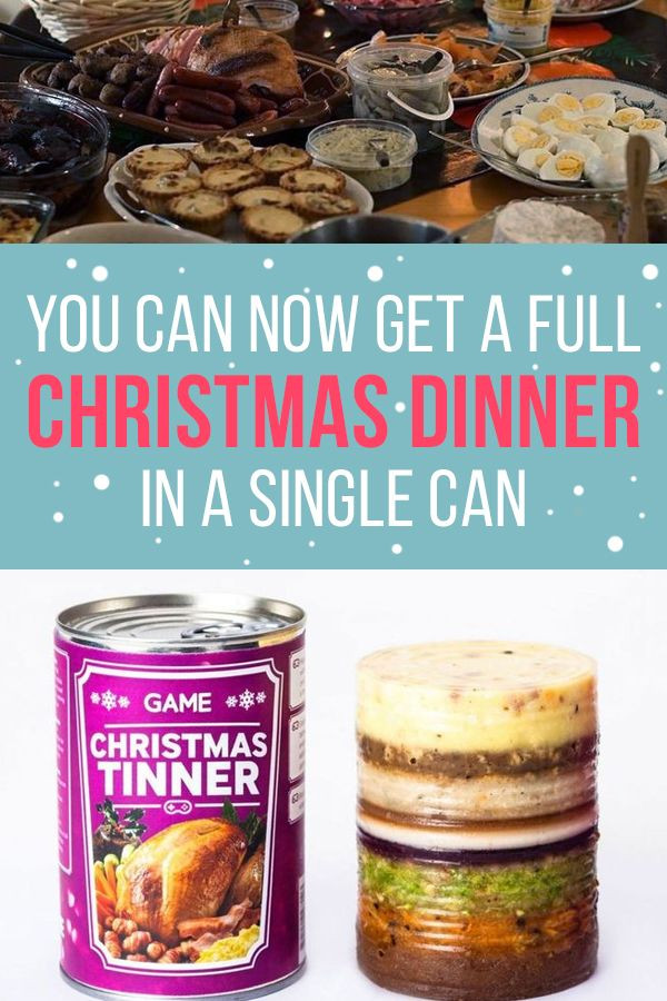 Christmas Dinner In A Can  You Can Now Get A Full Christmas Dinner In A Can