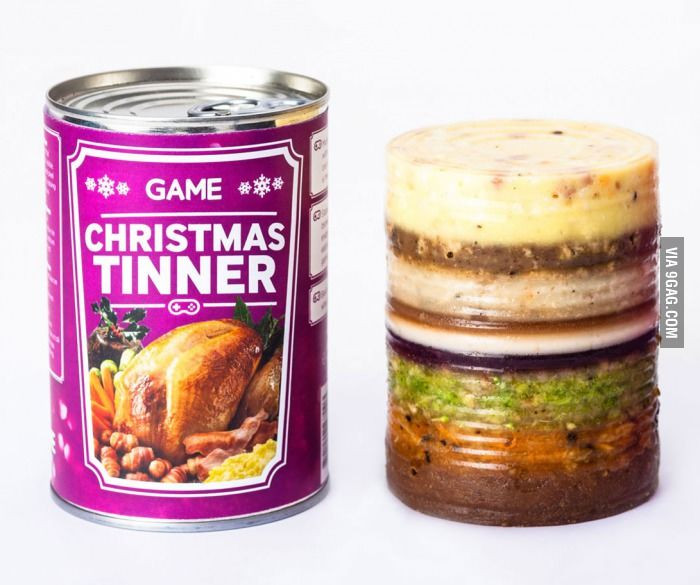 Christmas Dinner In A Can  Mmmm tastes like loneliness