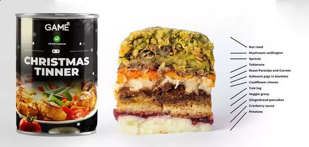 Christmas Dinner In A Can  You can now an entire Christmas dinner in a tin and
