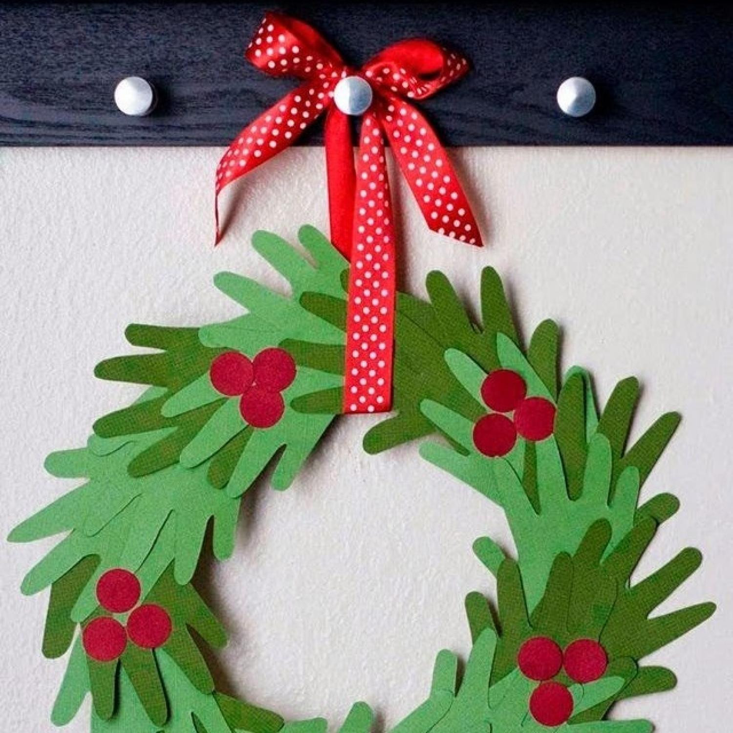 Christmas Painting Ideas For Kids  10 Handprint Christmas Crafts for Kids