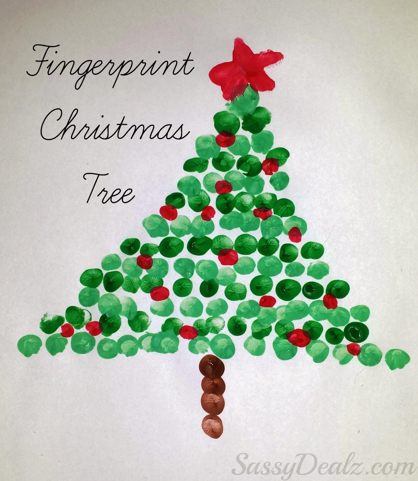Christmas Painting Ideas For Kids  Christmas Fingerprint Crafts U Create