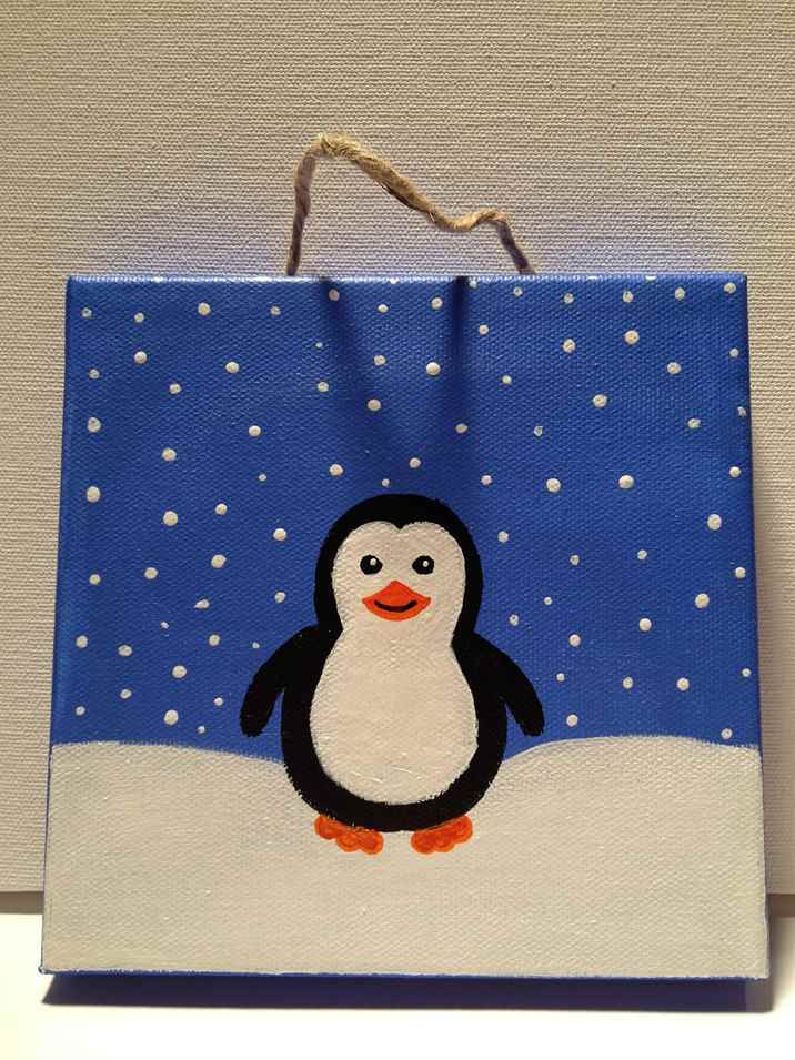 Christmas Painting Ideas For Kids  Christmas Paintings Canvas Easy Ideas In Home 31