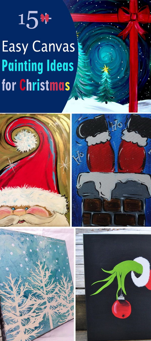 Christmas Painting Ideas For Kids  15 Easy Canvas Painting Ideas for Christmas 2017